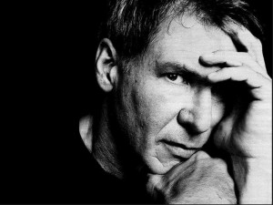 Postal: Harrison Ford en blanco y negro