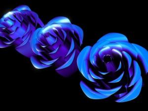 Postal: Rosas azules