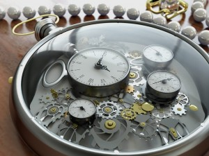 Postal: El mecanismo de un reloj