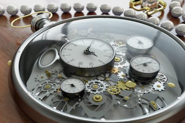 El mecanismo de un reloj