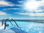 Una piscina soleada