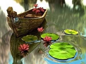 Una pequeña barca