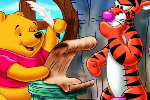 Pooh y Tiger escriben una carta