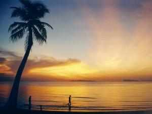 Playas de Lipa Noi, en Ko Samui, antes de salir el sol