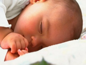 Postal: Bebé dormido