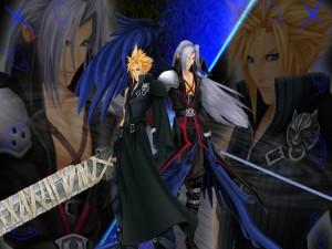 Cloud y Sephiroth