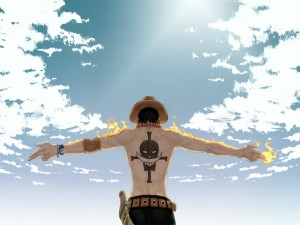Postal: Portgas D. Ace (One Piece)