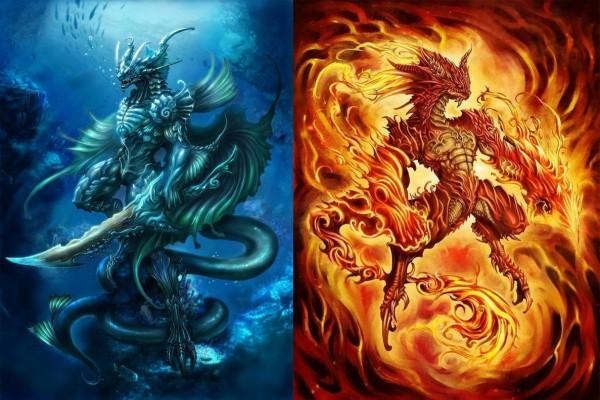 Dragón de agua y Dragón de fuego
