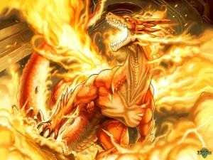 Postal: Dragón de fuego