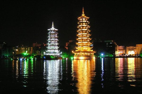 Río Lijiang en Guangxi (China)