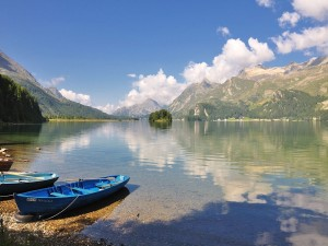 Lago Sils, Grisons, Suiza