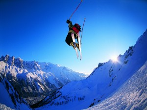 Espectacular salto de esquí