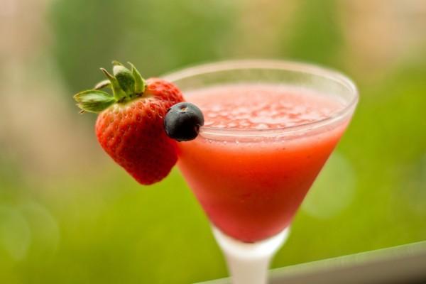 Cóctel de fresas