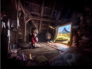 Postal: La imaginación de un niño