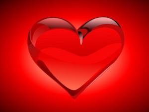 Postal: Corazón rojo