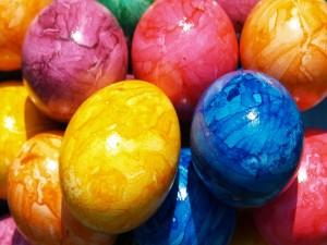 Postal: Huevos pintados