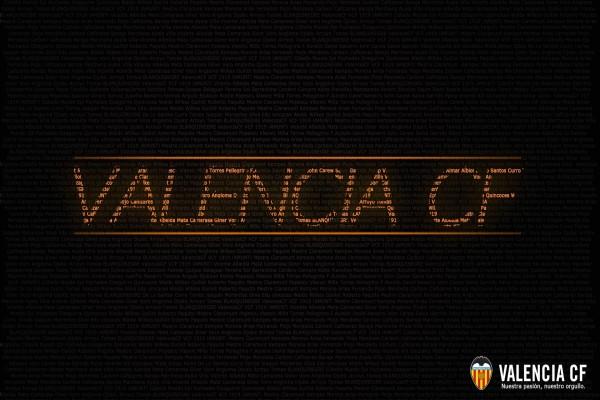 Valencia CF en letras