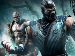 """Sub-Zero y Kratos en """"Mortal Kombat"""""""
