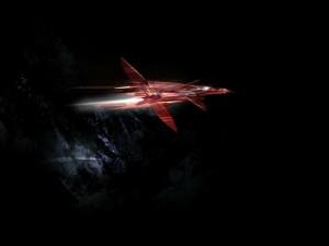 Postal: Cohete espacial