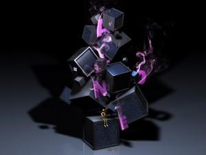 Postal: Cajas 3D
