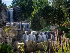 Cascadas en el Jardín Botánico Grugapark