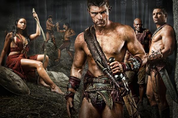 """Algunos personajes de la serie """"Spartacus"""""""