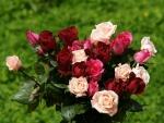 Ramo de rosas en varios colores