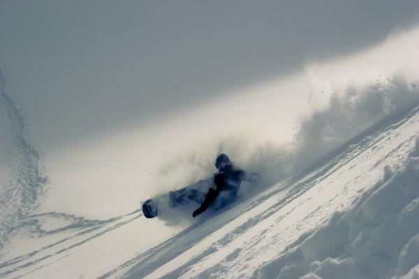 Caída de snowboard