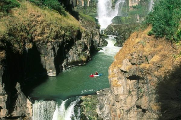 Kayak en un precioso lugar