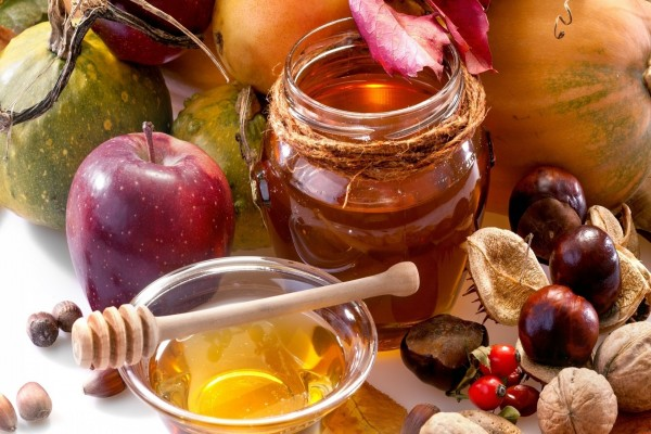 Frutas, nueces y miel