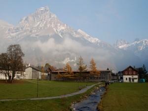 Vista de la cumbre del Hahnen (2602m), Suiza