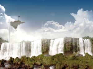 Postal: Bellas cascadas