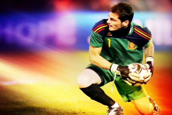 Iker Casillas como portero de la Selección Española de Fútbol