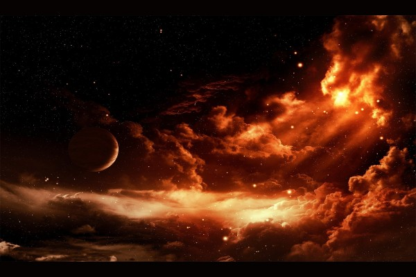 Amanecer espacial