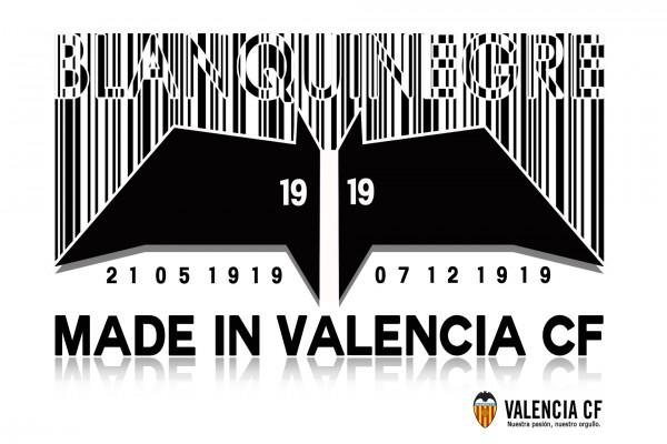 Valencia CF, código de barras y murciélago