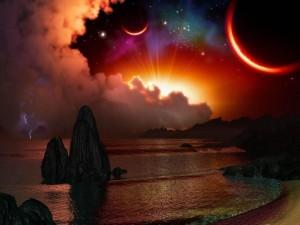 Atardecer en otro planeta