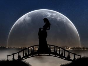 Postal: La dama del puente