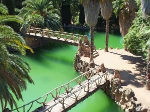 Postal: Estanque de aguas verdes