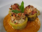 Alcachofas en salsa con jamón