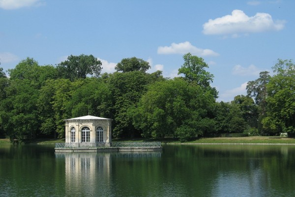 Salón de té en el Palacio de Fontainebleau
