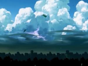 Postal: Nubes sobre la ciudad