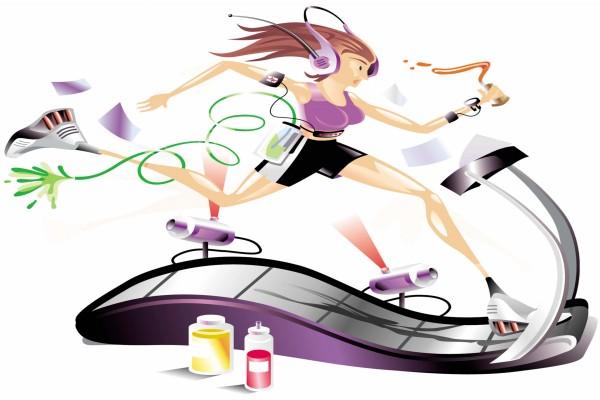 Mujer en una cinta de correr