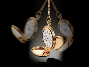 Postal: Reloj de oro