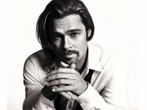 Brad Pitt en blanco y negro
