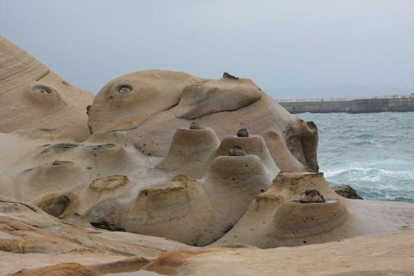 Rocas en la costa de Keelung (Taiwán)