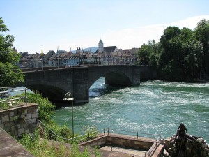 Postal: Puente viejo del Rin, Rheinfelden (Suiza)