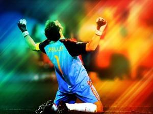 Iker Casillas celebrando el gol