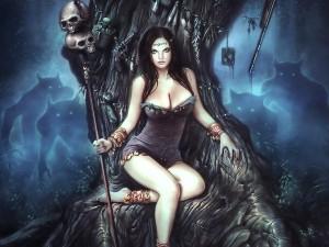 Hechicera en su trono
