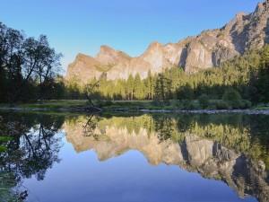 Postal: Valley View en el Parque Nacional Yosemite