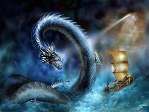 Dragón en el mar